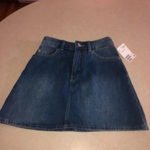jean skirt size 2, new with tags!!